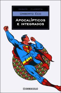 Supermán en la portada de Apocalípticos e Integrados, de Umberto Eco.