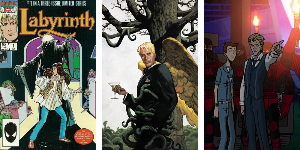 Marvel´s version of Jareth the Gobling King, DC's Lucifer Morningstar, and The Venture Bros.'s Sovereign, three characters based on David Bowie.