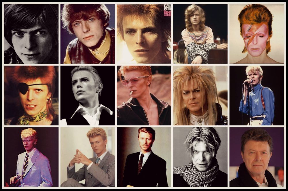 All of David Bowie's personas or characters.