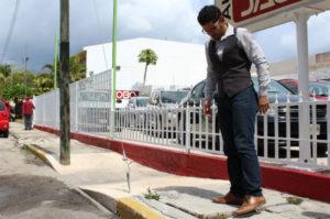 Aceras de Mérida. Foto de la Verdad. Voz Abierta