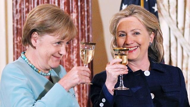 Hillary Clinton and Angela Merkel —Voz Abierta