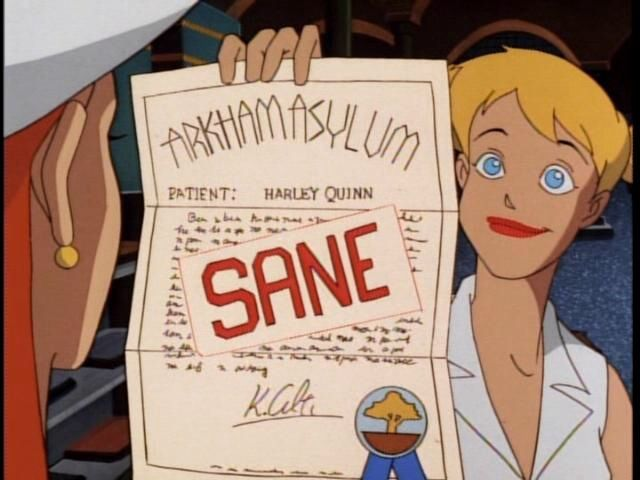Harley's Holiday, certificate, sane, Vreeland, Batman the Animated Series, Warner Bros. Animation — Voz Abierta